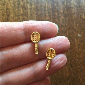 Kate Spade tennis rackets stud earrings